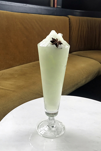 Frozen Absinthe Frappe at The Bluebird Cocktail Room