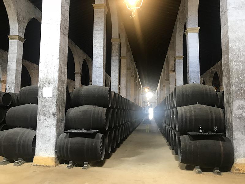 Lustau Bodega barrel room
