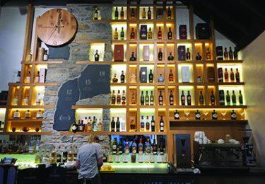 Glenfiddich Distillery Bar.