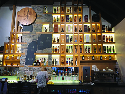 Glenfiddich Distillery Bar.