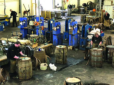 Barrel repair shop