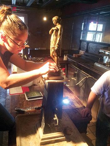 Restoring an antique Absinthe fountain