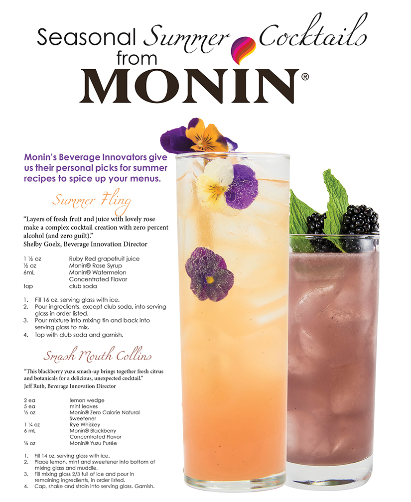 Monin cocktail recipes