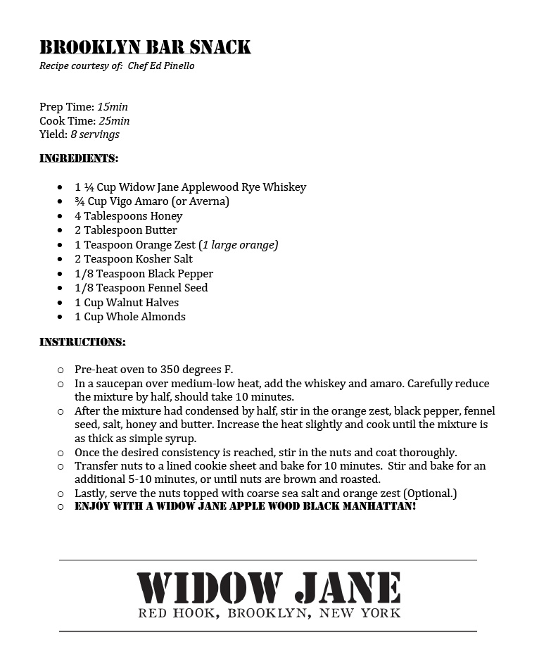 Widow Jane (Pandemic Pairing)