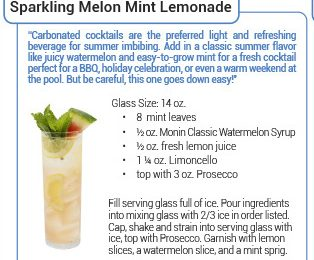 summer cocktail recipes by monin