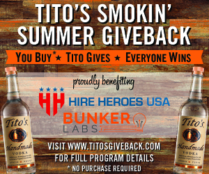 titos gives back